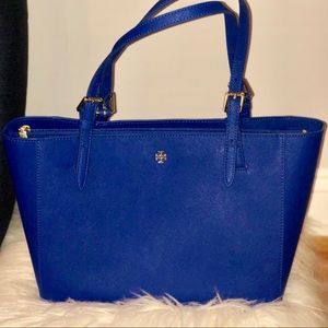 Tory Burch York Buckle Small Tote- Jelly Blue